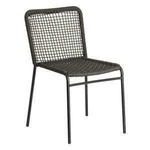 Šedá židle La Forma Mandyra