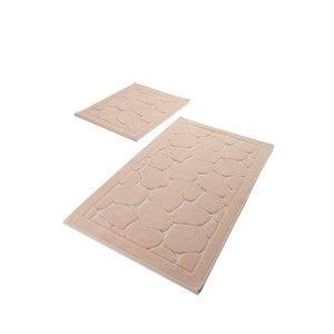Sada 2 růžových bavlněných koupelnových předložek Confetti Bathmats Parma Powder