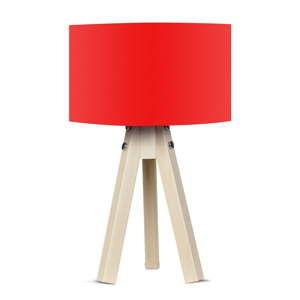 Stolní lampa s červeným stínítkem Kate Louise Naturel
