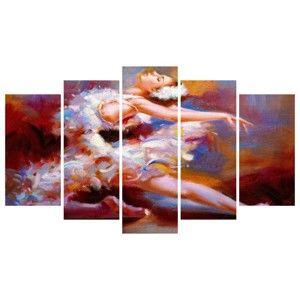 Vícedílný obraz na plátně Ballerina