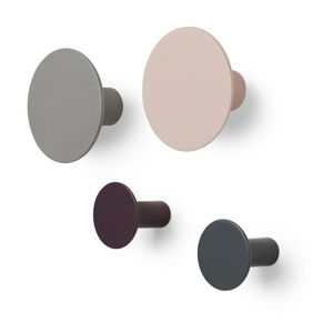 Sada 4 více barevných nástěnných háčků Blomus Ponto