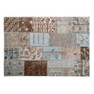 Hnědý koberec s příměsí bavlny Cotex Bali, 140 x 200 cm