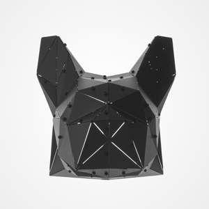 Černá kovová závěsná dekorace vhodná i do exteriéru Geo Dogo