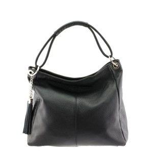 Černá kožená kabelka Markese Sebastiano