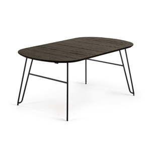 Černý rozkládací jídelní stůl La Forma Norfort, délka140/220cm