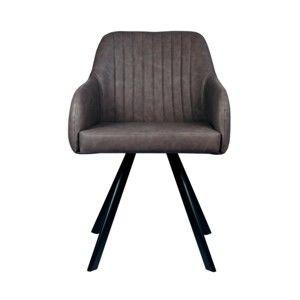 Antracitová jídelní židle LABEL51 Floor