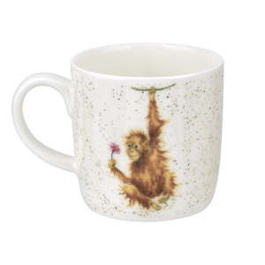Sada 6 hrnků z kostního porcelánu Royal Worcester Orangutangle, 310 ml