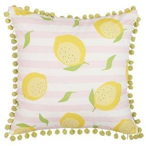 Povlak na polštář Apolena Pompom Lemons , 43x43cm
