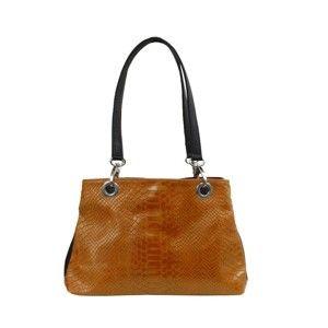 Karamelově hnědá kožená kabelka Infinitif Lolita