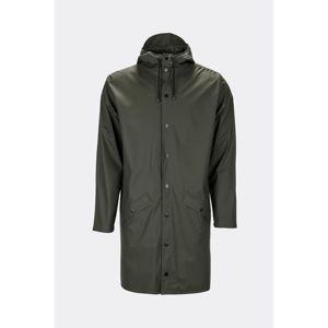 Tmavě zelená unisex bunda s vysokou voděodolností Rains Long Jacket, velikost XXS/S