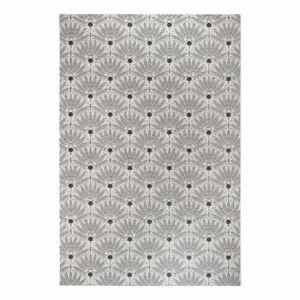 Černo-šedý venkovní koberec Ragami Amsterdam, 80 x 150 cm