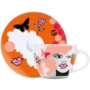 Set porcelánového šálku a podšálku na espresso Ritzenhoff Ingrid Robers, 8cl
